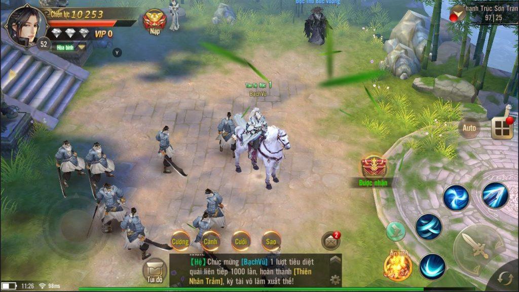 Hành trình của người chơi trong Tuyệt Thế Võ Lâm gắn bó chặt chẽ với nhiệm vụ chính