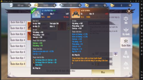 Tăng lực chiến với Quân hàm và Thiên thư trong Perfect World VNG