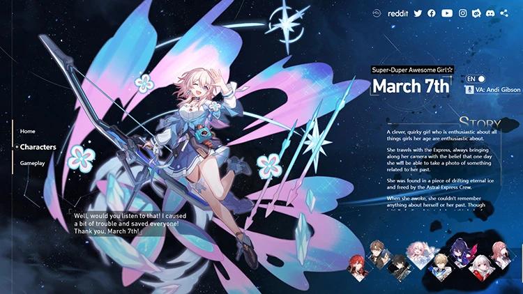 Honkai Star Rail: Thông tin chi tiết các nhân vật sẽ xuất hiện trong bản game đầu tiên